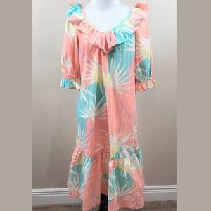 Kole Kole Hawaiian Mumu Medium Dress Vintage